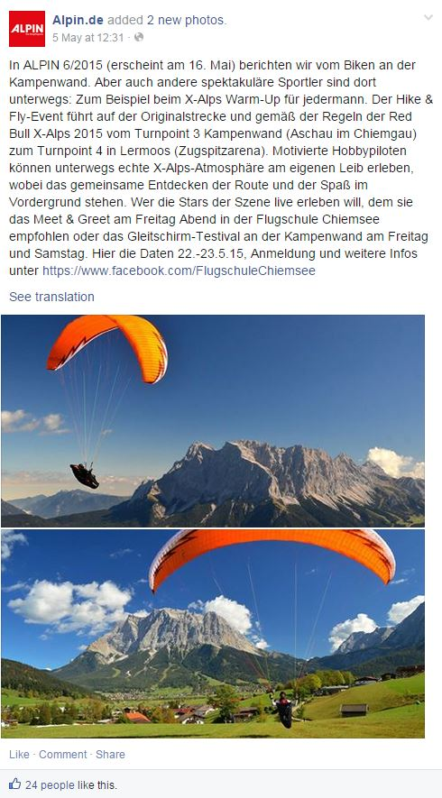Outdoor - Die Top 10 Magazine auf Facebook in Deutschland