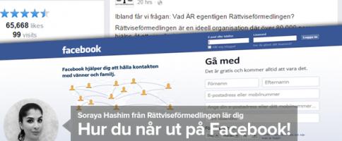 Så når du ut på Facebook