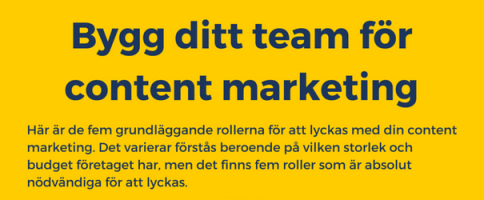 Bygg ditt team för content marketing