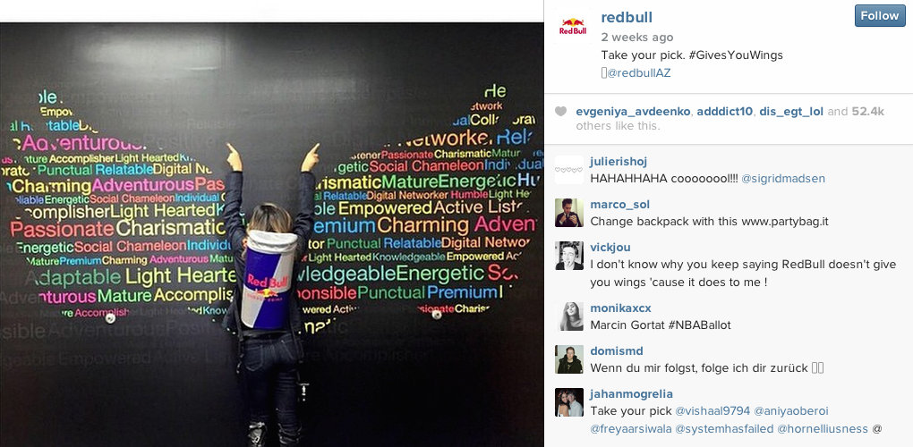 Red Bull - Instagram for PR