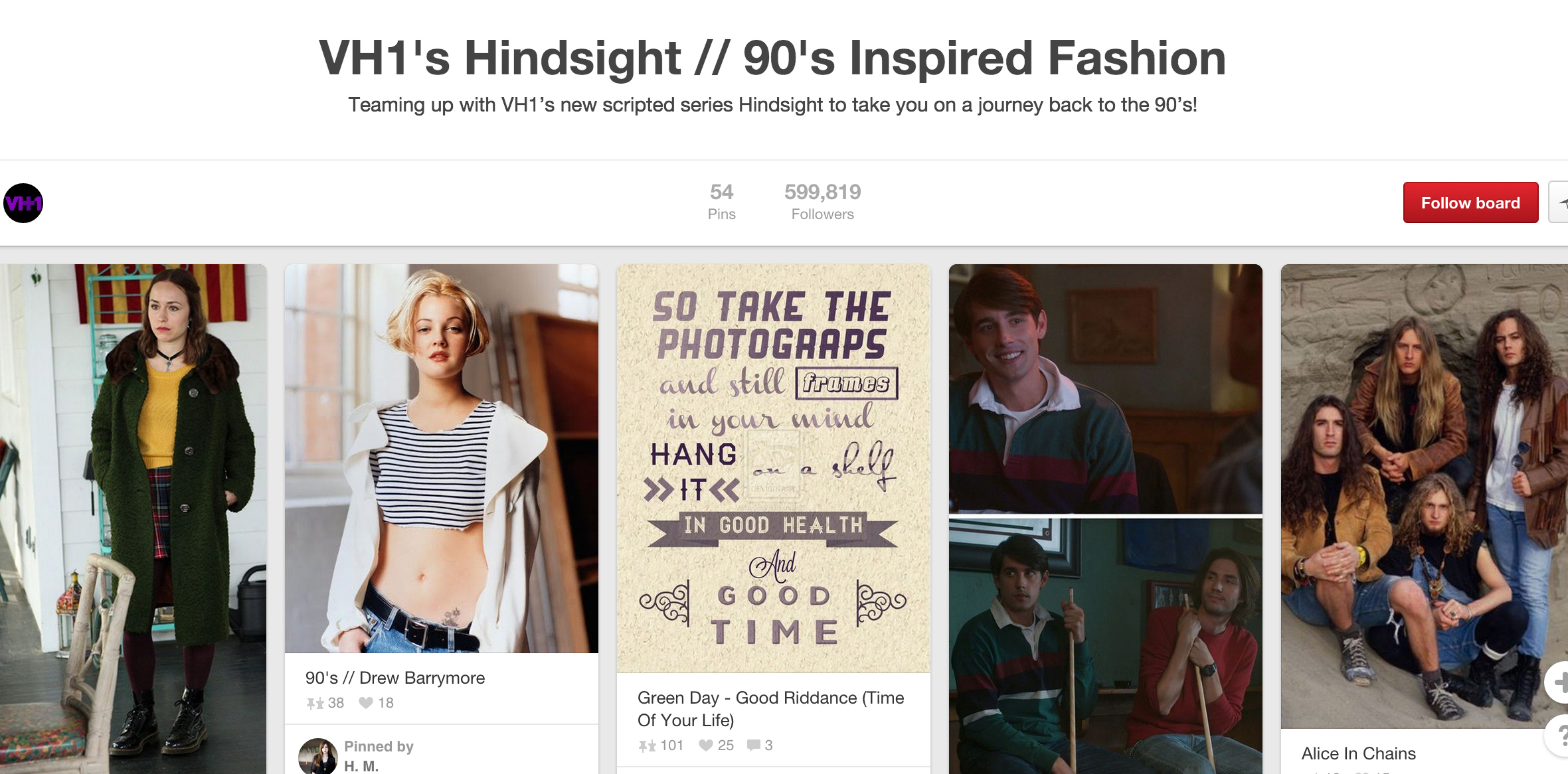 VH1 Pinterest for Communications