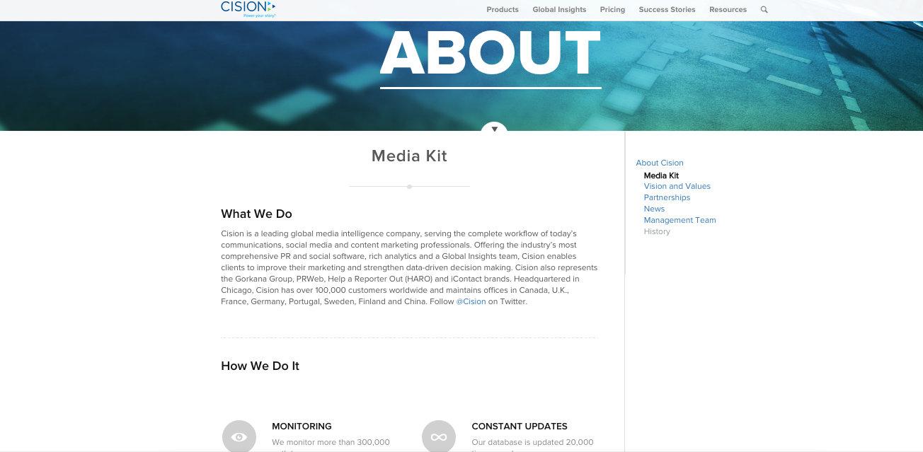 Cision Media Kit