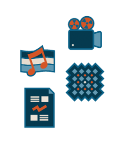 Design_Copyright Infographic_Packaged_Music, Movies, Graphics Fabric