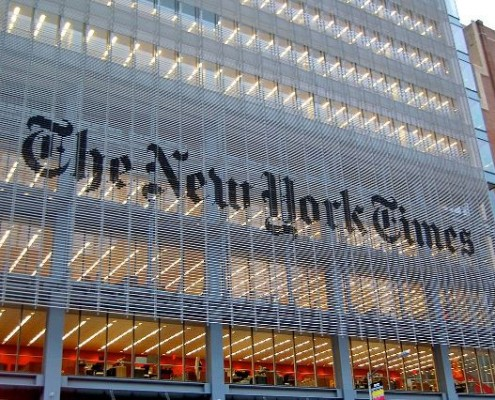 """""""Nytimes hq"""" by Haxorjoe - Own work. Licensed under CC BY-SA 3.0 via Wikimedia Commons - https://commons.wikimedia.org/wiki/File:Nytimes_hq.jpg#/media/File:Nytimes_hq.jpg"""