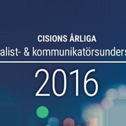 Cisions journalist- och kommunikatörsundersökning 2016Katarina Graffman