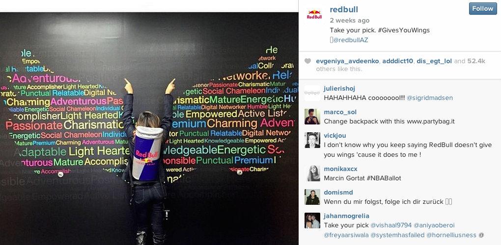 Red Bull - Instagram for PR